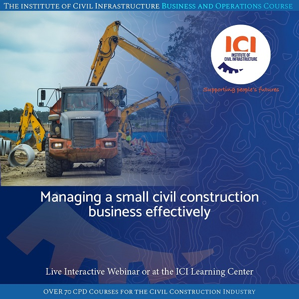 Managing a small civil construction business effectively